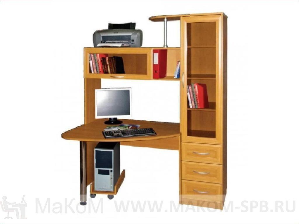 Купить стол компьютерный бонус-2 (однотонный) мебельный двор.