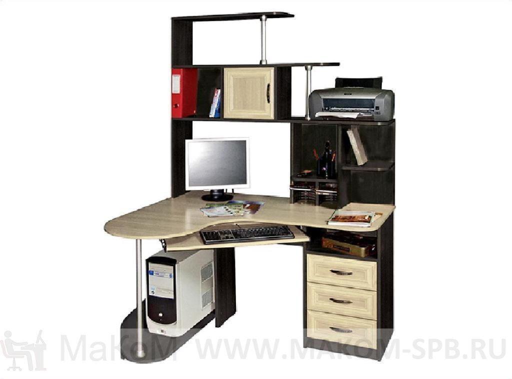 """Компьютерный стол """"варяг-3"""" (венге/дуб молочный) с-мебель."""