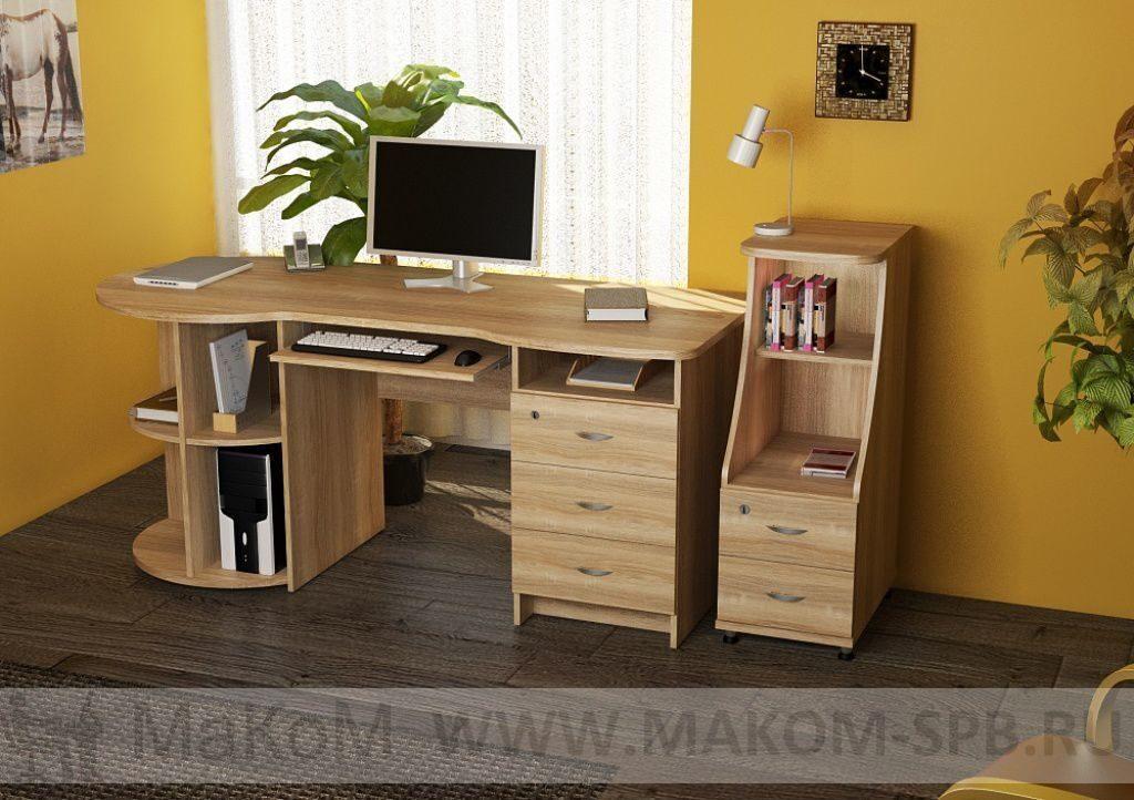 Купить большой письменный стол пс 40-02 от мебельной фабрики.